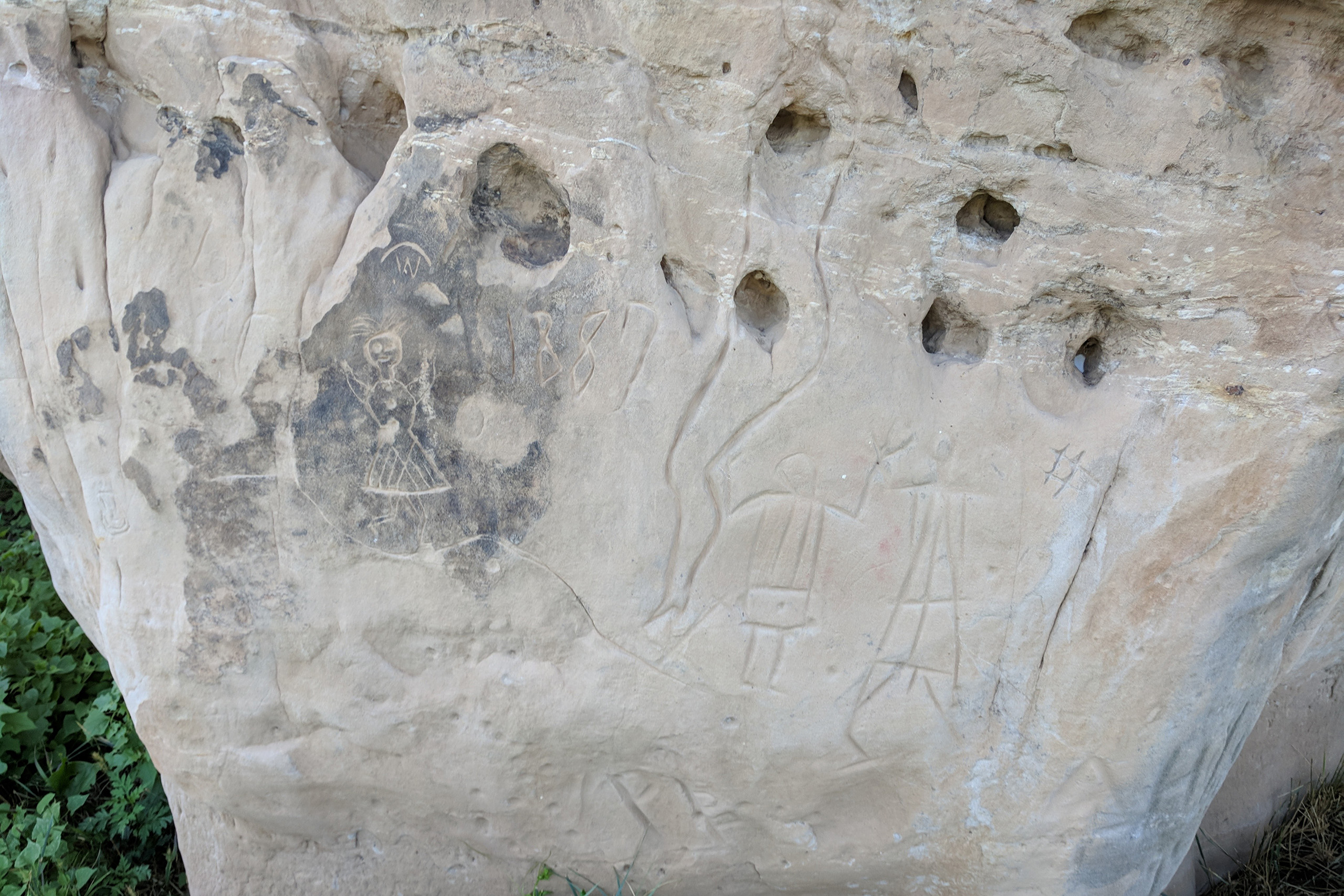 Native American Petroglyphs at Hoot Owl Guest Ranch